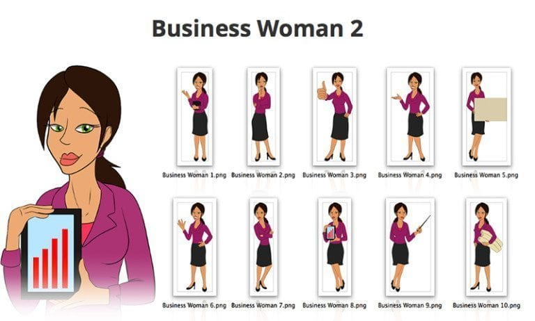 Business-Woman-2-SVG-Preview