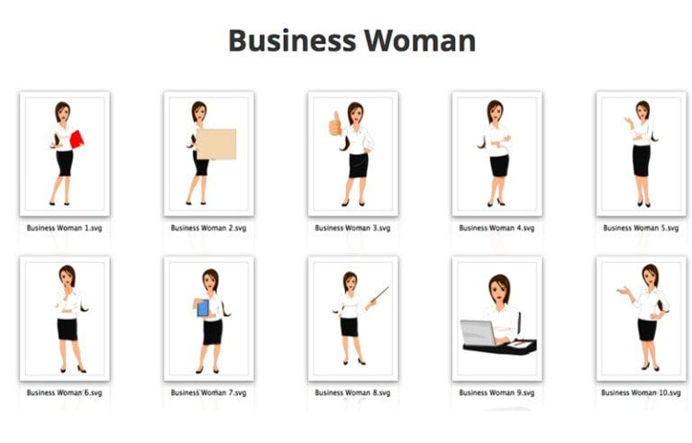 Business-Woman-3-SVG-Preview