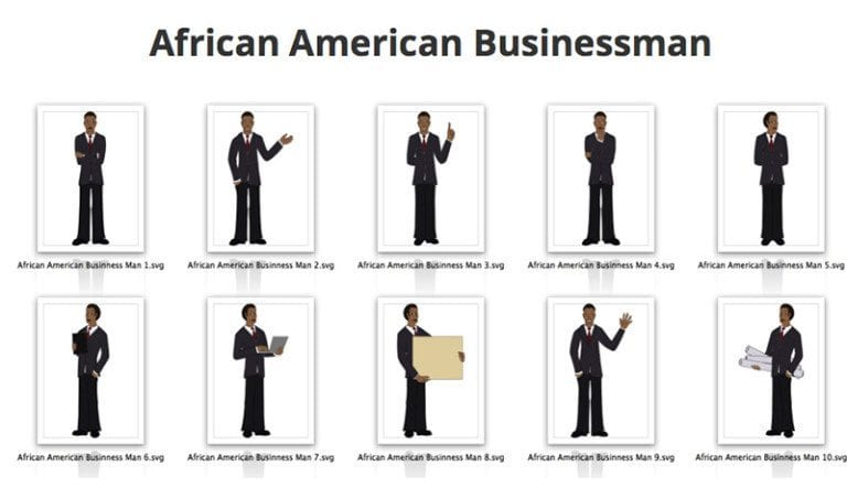 Businessman-African-American-SVG-Preview