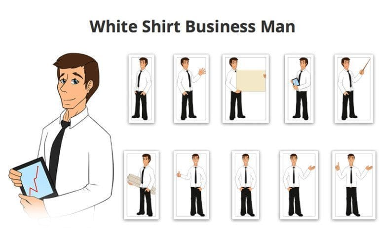 Businessman-White-Shirt-SVG-Preview