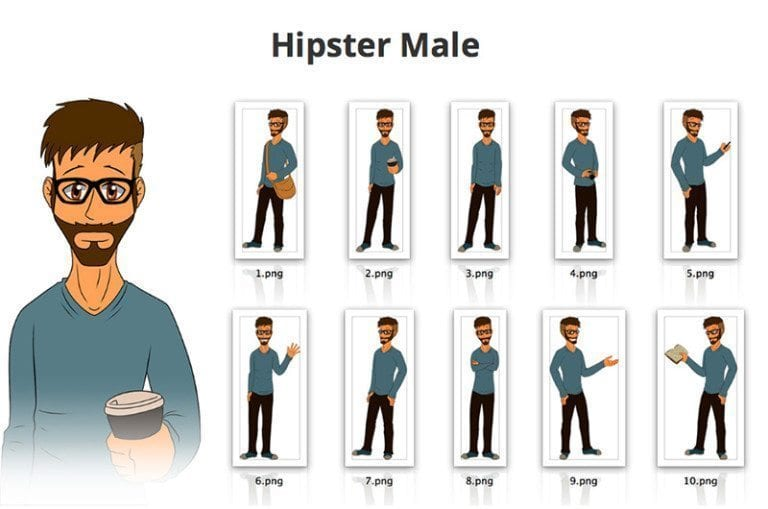 Hipster-Male-SVG-Preview