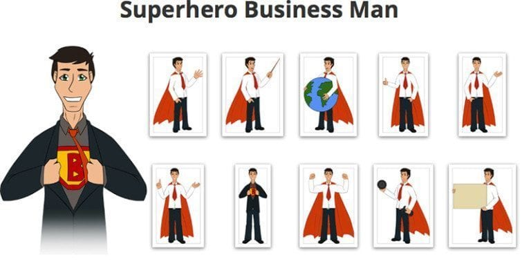 Superhero-Businessman-SVG-Preview
